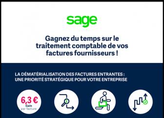 Gagnez du temps sur le traitement comptable de vos factures fournisseurs avec Sage 100 Automatisation Comptable